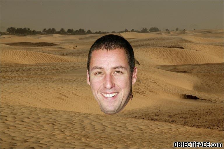 - The desert Adam Sandler`s head is gonna be found i